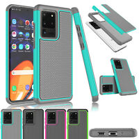 """For Samsung Galaxy S20 Plus 6.7"""" / S20 Ultra 6.9"""" Phone Case Hybrid Rubber Cover"""