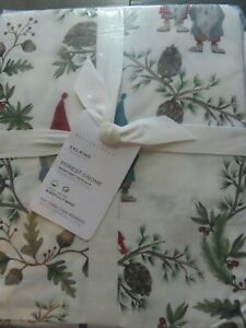 Pottery Barn FOREST GNOME ORGANIC COTTON SHEET SET-CALIFORNIA KING-NEW W/ TAGS