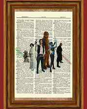 Star Wars Dictionary Art Print Book Picture Poster Chewbacca Han Solo Yoda Aayla
