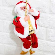 New listing Electric Climbing Ladder Rope Santa Claus Singing Hanging Beads Christmas Decor