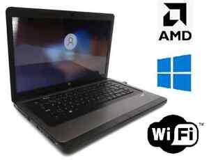 "HP 2000 Laptop -15.6"" AMD E-350 @1.6GHz 6GB RAM 320 GB HDD Windows 10 Pro 64 bit"
