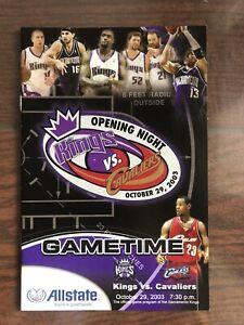 2003 Cleveland Cavaliers LeBron James Debut First Regular Season Game Program