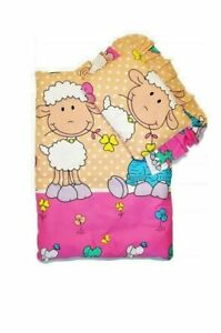 Baby Bedding Set For Strollers Baby Cradles Blanket With Pillow Baby Sheep Beige