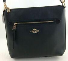 New Authentic Coach F34823 Pebble Leather Mae Crossbody Purse Handbag Black