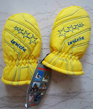 INVICTA fluo vintage muffole guanti NOS gloves ski bebè padded muffola thermor