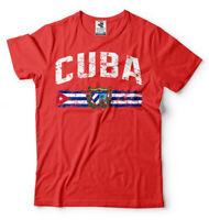 Cuba T-shirt Cuban heritage national Flag Tee Shirt Mens Cotton T-shirt