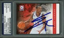 76Ers Evan Turner Authentic Signed Card 2012 Panini Prestige #132 PSA Slabbed