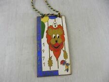 Ancienne médaille de carnaval, Société carnavalesque, Sarreguemines, 1971