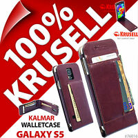 New Krusell Kalmar WalletCase Synthetic Leather Flip Case for Samsung Galaxy S5
