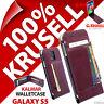 Neuf Krusell Kalmar, Synthétique Étui en Cuir Rabattable pour Samsung Galaxy S5
