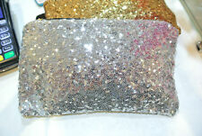 NEW Clutch Evening bag party Shining bag ENVELOPE Silver