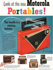 Motorola Portable Radio RED CITATION Pixie SPECTATOR Caribbean DIPLOMAT 1955 Ad