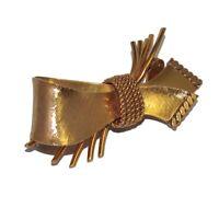 MURAT Broche ancienne en plaqué or 18 carats noeud années 40 bijou