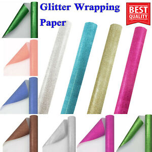 69x49cm CHRISTMAS GIFT WRAP ASSORTED  ROLLS WRAPPING Glitter sparkle PAPER ROLL