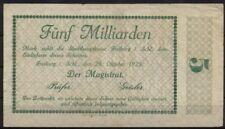 [15737] - Notgeld FREIBURG i. SCHLESIEN (heute: Świebodzice), Stadt, 5 Mrd Mk, 2