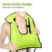 Amarine Made Inflatable Swim Vest,Portable Snorkel Life Jacket for Snorkeling,Diving,Boating