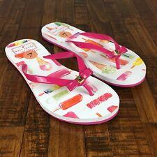 Kate Spade Flip Flops Sandals Nadine Mini Popsicle Pink Ice Cream Womens Size 7