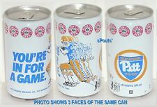 1987 PITT PANTHERS FOOTBALL GAME SPORT TIN BEER CAN PITTSBURGH IRON RUNNING BACK