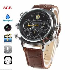 Spy Wrist Watch Hidden Camera Mini Digital Video Recorder DVR 8GB Surveillance
