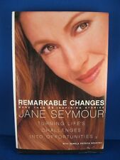 "Jane Seymour Autographed Book ""Remarkable Changes"" w/Coa"