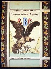 Vintage Children's Imagerie Pellerin Syllabaire des Oiseaux Etrangers Inv1497