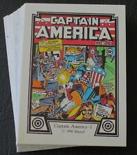 1990 MARVEL CAPTAIN AMERICA COMIC TRADING CARD SET <> WOLVERINE PUZZLE BACK