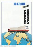 Krone Eurotrail Wechselsysteme Prospekt 1992 4/92 brochure Lkw Nutzfahrzeug
