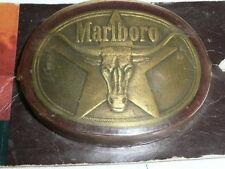 MARLBORO LONGHORN 5 POINTED STAR SOLID BRASS  Antique BELT BUCKLE