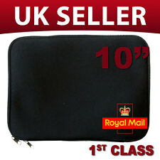 "Black Laptop Netbook 10"" Soft Sleeve Case Bag Cover UK"