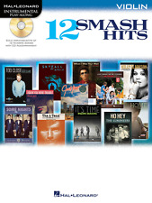 """12 SMASH HITS"" INSTRUMENTAL PLAY-ALONG MUSIC BOOK/CD FOR VIOLIN-NEW ON SALE!!"