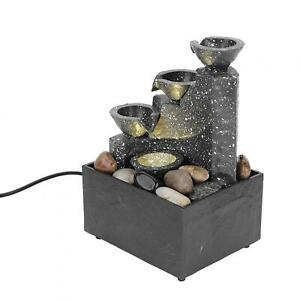 Waterfall Rockery Water Fountain Desktop Decoration USB Charging For Home Office