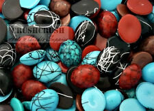 100pcs 8 x 10 mm Mixed Color Oval Cabochons Flatback Craft Setting Gem F830