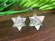 Lot of 50 Small Crystal Quartz Merkaba Star Sacred Geometry Star of David