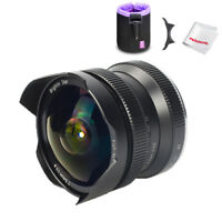Brightin Star 7.5mm F2.8 Wide Fisheye Cameras Lens for Fuji X Mount+ Lens Pouch