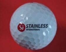 Pelota de golf con logo-stainless international-Ltd si inglaterra gb-golf logotipo Ball