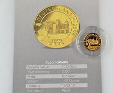 10 dollars Liberia Football Coupe du monde 2006 en Allemagne équipe Croatie Gold 585