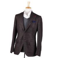 NWT $3295 ISAIA Chocolate Brown Wool-Silk-Cashmere Sport Coat 40 R (Eu 50)