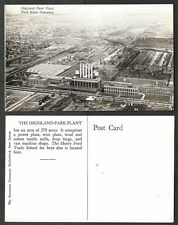 Old Michigan Real Photo Postcard - Highland Park - Ford Automobile Factory