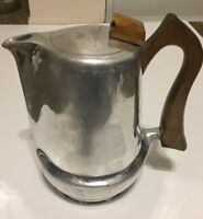 Picquot Ware J6 Aluminum Coffee Pot Wood Handle Vintage