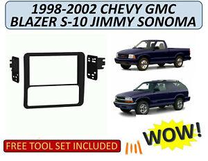 Double Din Car Radio Dash Kit for 1998-02 Chevrolet Blazer S-10 GMC Jimmy Sonoma