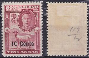 Somaliland Protectorate 1951 KGVI 10c Overprint sheep SG--126 MLH  - US Seller