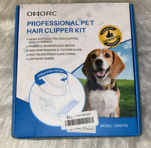OMORC Dog Clippers Professional Heavy Duty Pet Grooming Kit w Comb and Scissor