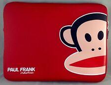 """Paul Frank Zoom Julius 13"""" MacBook Notebook Laptop Sleeve Red Neoprene R00120"""