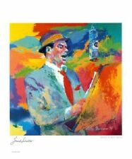 Frank Sinatra by Leroy Neiman Original 1994 Art Print Poster Plate Signed 20x24