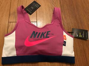 Nike Pink Classic Dri Fit Sports Bra Sz X-Large / 16 BNWT