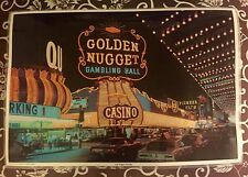 Vintage Las Vegas Strip Golden Nugget Photo Place Mat Memorabilia Souvenir