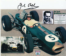 Jack BRABHAM main signé formule 1 7x6 photo.