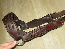 Excellent Quality Dark Brown Leather CATTLE SHOW HALTER - Shaped w/Overlay - EUC