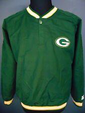 GREEN BAY PACKERS STARTER JACKET Men Size M Pullover Top Coat Side Zip Pro Line