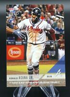 2018 Topps Now RONALD ACUNA JR. #707 25 HRs Rookie RC ATLANTA BRAVES 🔥⚾️ 📈